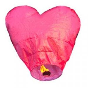 1pc Red Heart Sky Lantern
