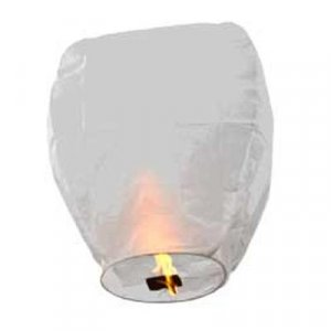 40pc ECO White Sky Lantern - Trance Lanterns