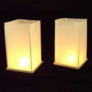 2pc White floating lanterns