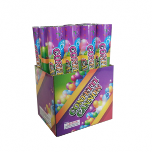 12 Inch Multi Color Confetti Cannon 12 Pack