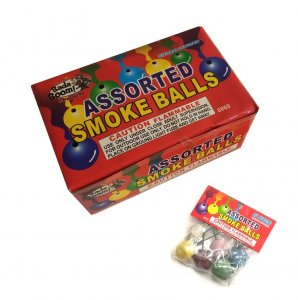 Assorted Color Smoke Balls - Pack of 6