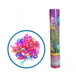 12 Inch Multi Color Confetti Cannon 6 Pack