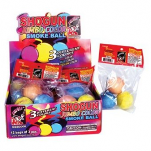 Jumbo Color Smoke Balls - 12 Packs of 3