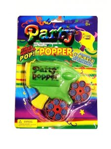 6 Shooter Gun - Confetti Party Popper