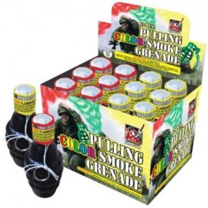 Pull Ring Color Smoke Grenade - Pack of 12