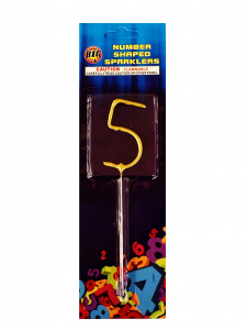 Number Shaped Sparkler 5