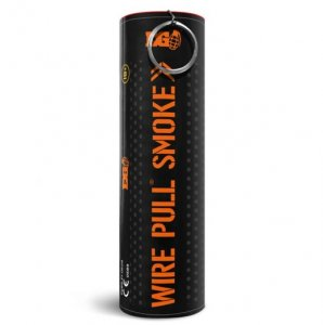 WP40 Wire Pull Enola Gaye Orange Smoke Grenade